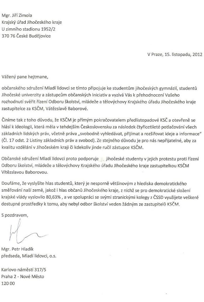 121115 otevřený dopis Zimola