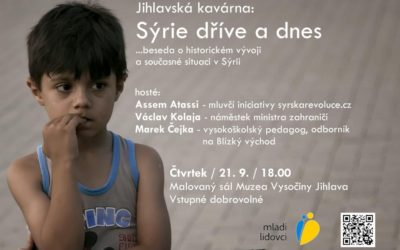 Pozvánka na besedu o Sýrii v Jihlavě