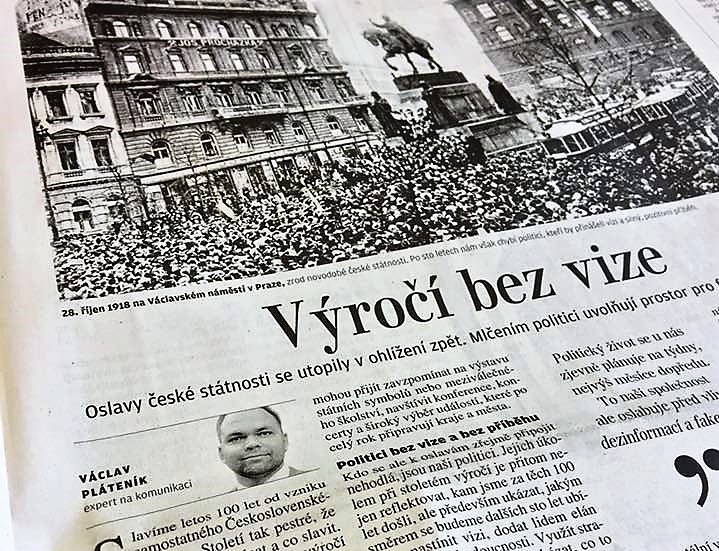 Václav Pláteník: Výročí bez vize