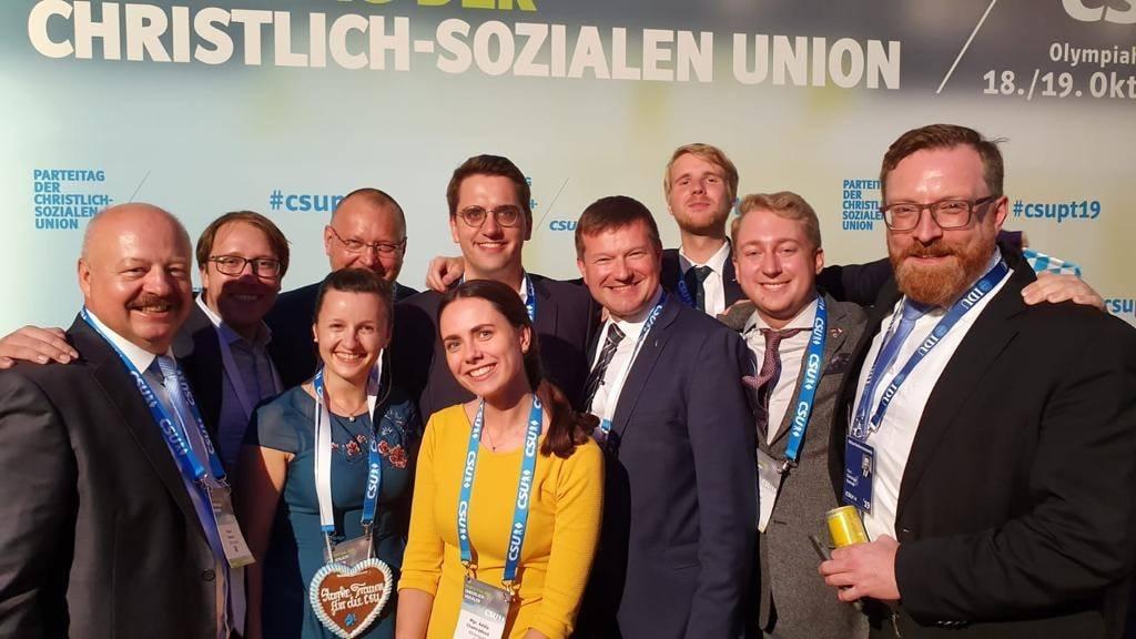 Mladí lidovci na sjezdu CSU v Mnichově